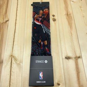 New Stance NBA Damian Lillard Socks Size L